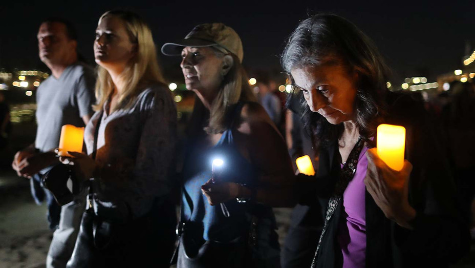 Public vigil for victims of the Conception boat fire on September 5, 2019- Getty-H 2019