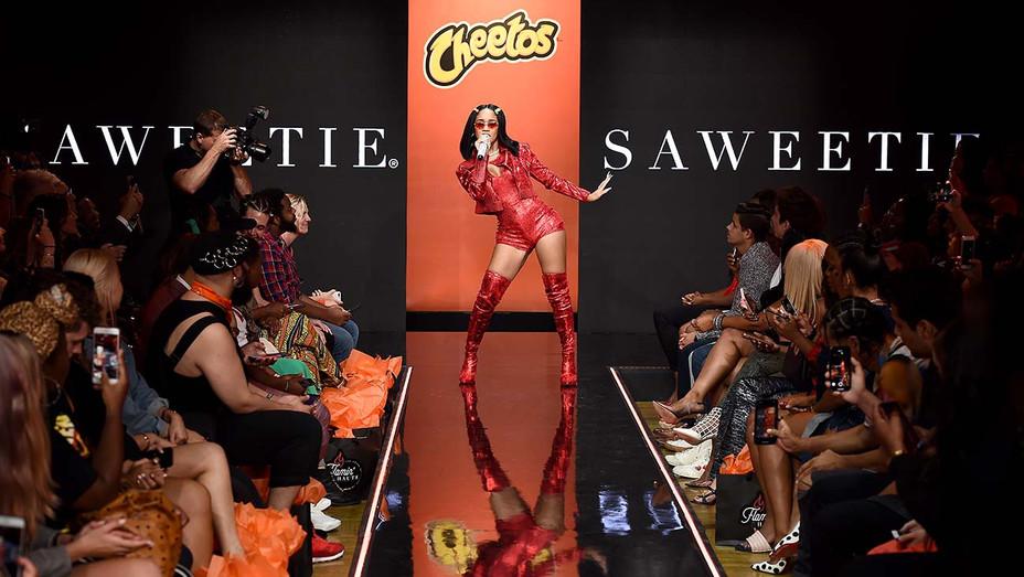 Saweetie Cheetos Haute Runway Show - Getty - H 2019