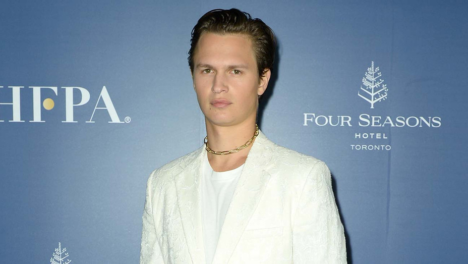 Ansel Elgort attends The Hollywood Foreign Press Association and The Hollywood Reporter party at the 2019 Toronto International Film Festival - Getty-H 2019