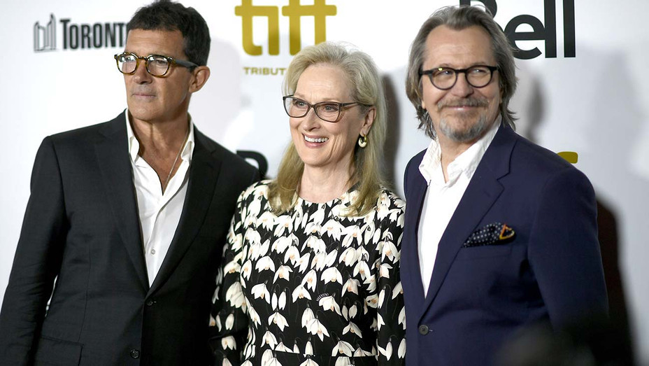 Antonio Banderas, Meryl Streep and Gary Oldman - TIFF Tribute Gala - Getty-H 2019