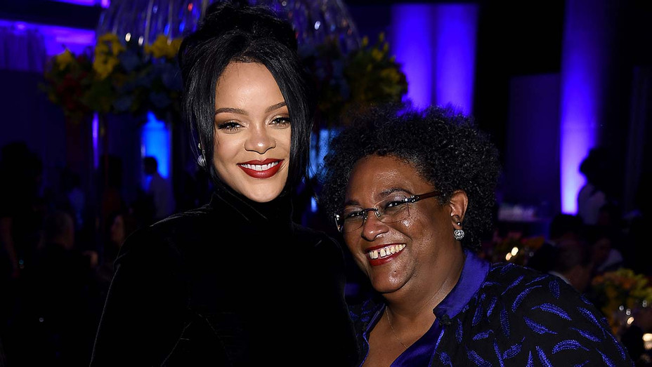 Rihanna and Prime Minister of Barbados Mia Mottley -September 12, 2019 - Getty-H 2019