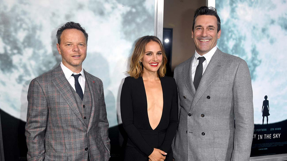 Noah Hawley, Natalie Portman, and Jon Hamm - Premiere of FOX's Lucy In The Sky - Publicity -H 2019