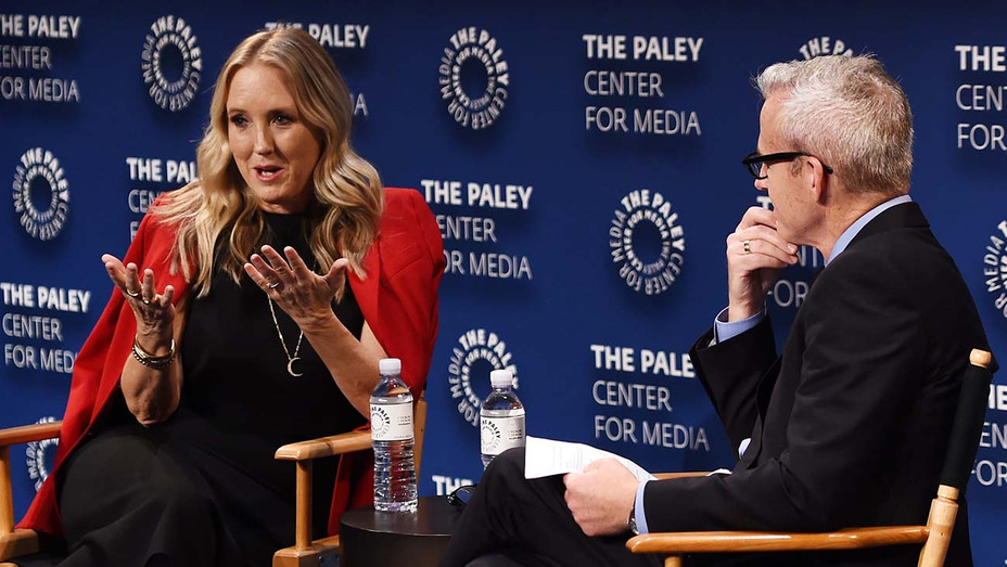 Jennifer Salke and Jess Cagle attend The Paley Center For Media Presents: Cocktails and Conversation - Getty -H 2019