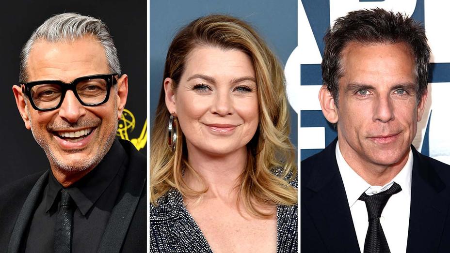 Jeff Goldblum, Ellen Pompeo, Ben Stiller - Getty - Split - H 2019