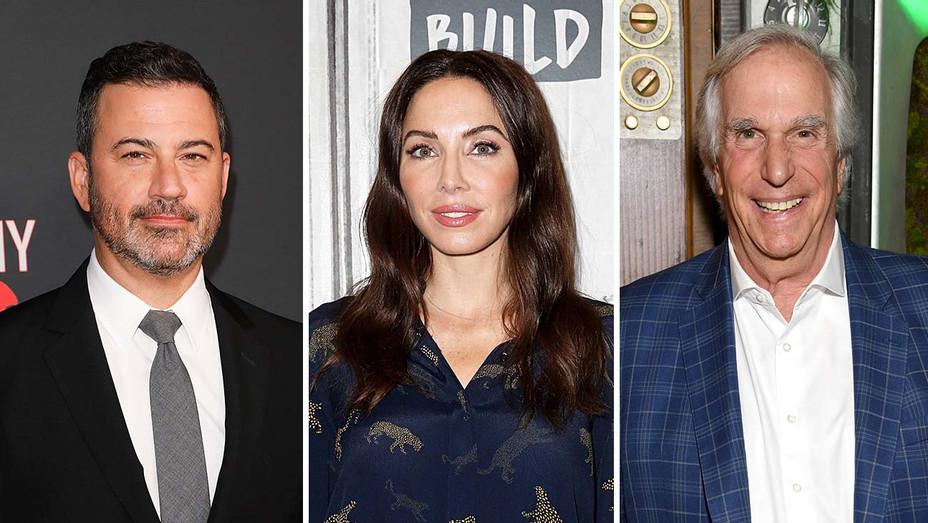 Jimmy Kimmel, Whitney Cummings and Henry Winkler_Split - Getty - H 2019