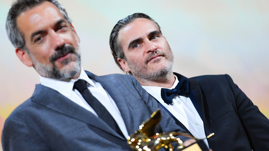 Todd Phillips, Joaquin Phoenix Golden Lion - Getty - H 2019
