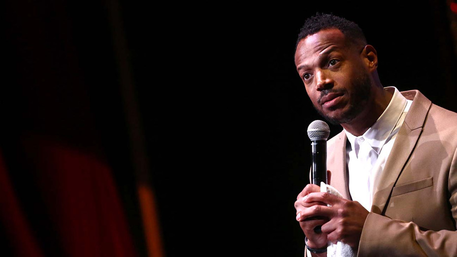 Marlon Wayans speaks onstage during the 20th Annual Golden Trailer Awards - Getty - H 2019