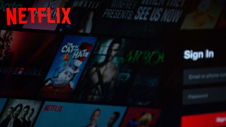 Netflix Logo on Computer - Getty - H 2019