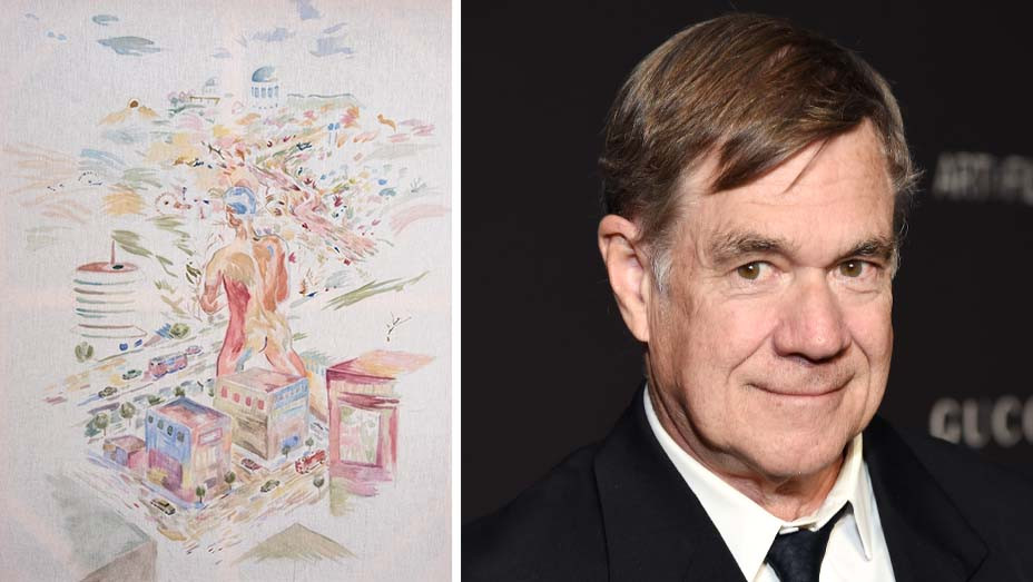 Gus Van Sant, Untitled (Hollywood 4) (2018-19) - Director Gus Van Sant - Getty - Painting - Publicity - Split - H 2019