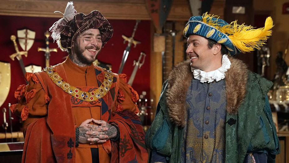 THE TONIGHT SHOW STARRING JIMMY FALLON -- Episode 1114 - Rapper Post Malone Medieval Times- NBC sketch -H 2019