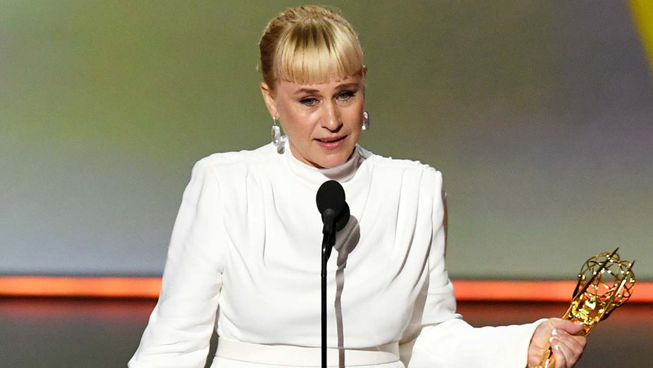 Patricia Arquette accepts the Outstanding Supporting Actress in a Limited Series or Movie award - Getty - H 2019