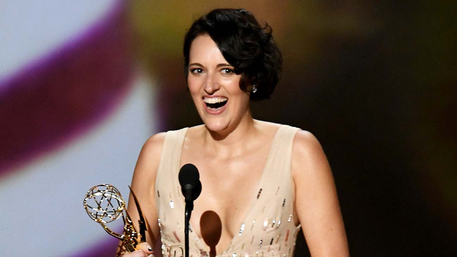 Phoebe Waller-Bridge accepts the Outstanding Lead Actress in a Comedy Series award -Emmys 2019 - Getty - H 2019