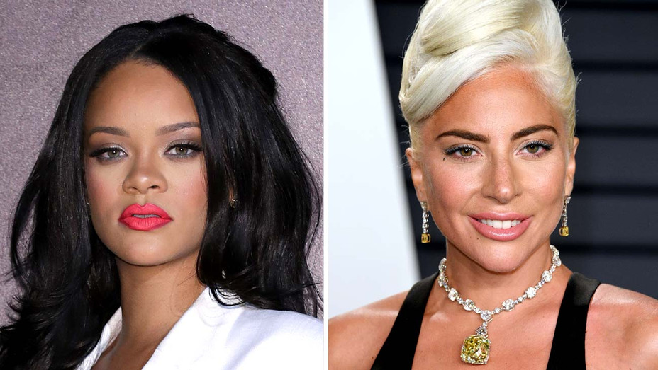 Rihanna and Lady Gaga - Getty - Split - H 2019