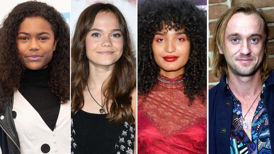 Tamara Smart, Oona Laurence, Indya Moore and Tom Felton - Getty - H 2019