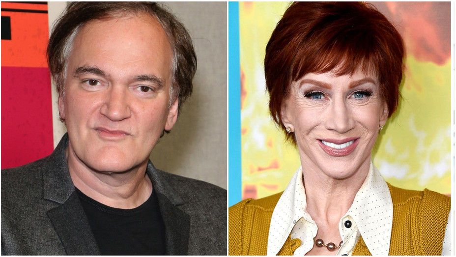 Quentin Tarantino, Kathy Griffin Split - Getty - H 2019