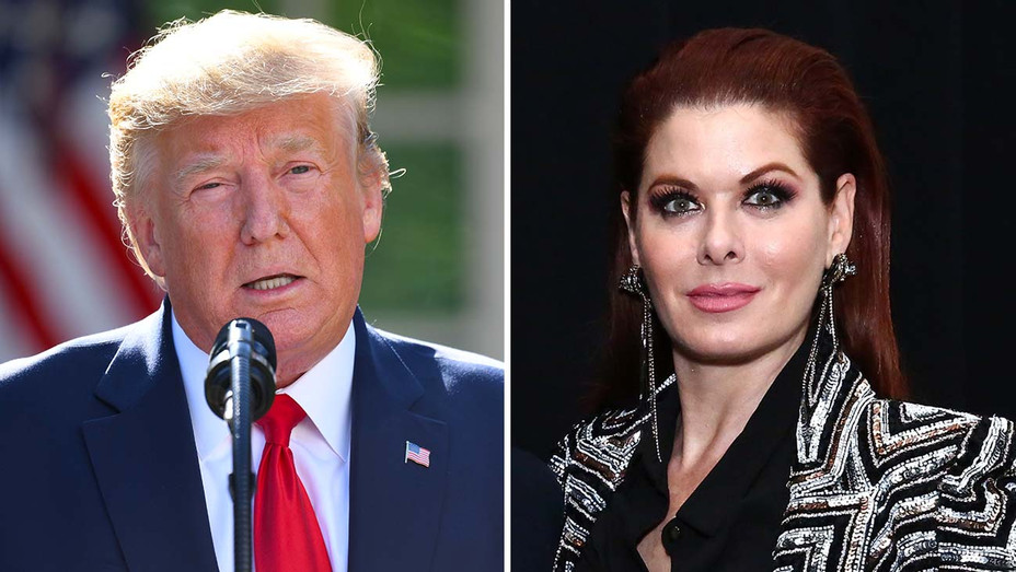 Donald Trump and Debra Messing Split -Getty-H 2019