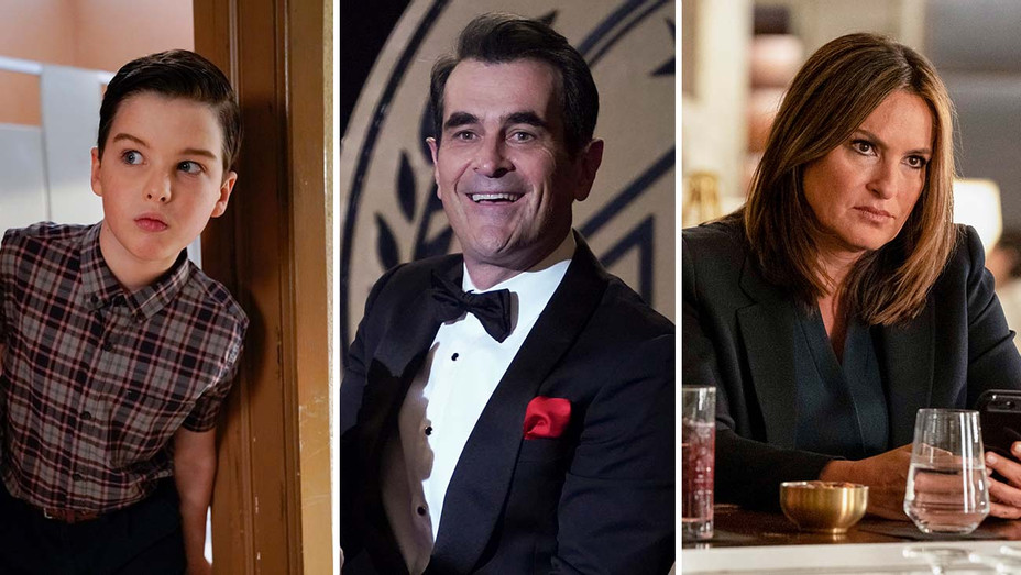 Young Sheldon_Modern Family_Law & Order SVU_Split - Publicity - H 2019