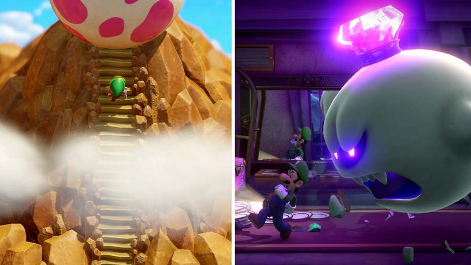 Zelda: Link's Awakening - Luigi's Mansion 3- Split - Publicity - H 2019