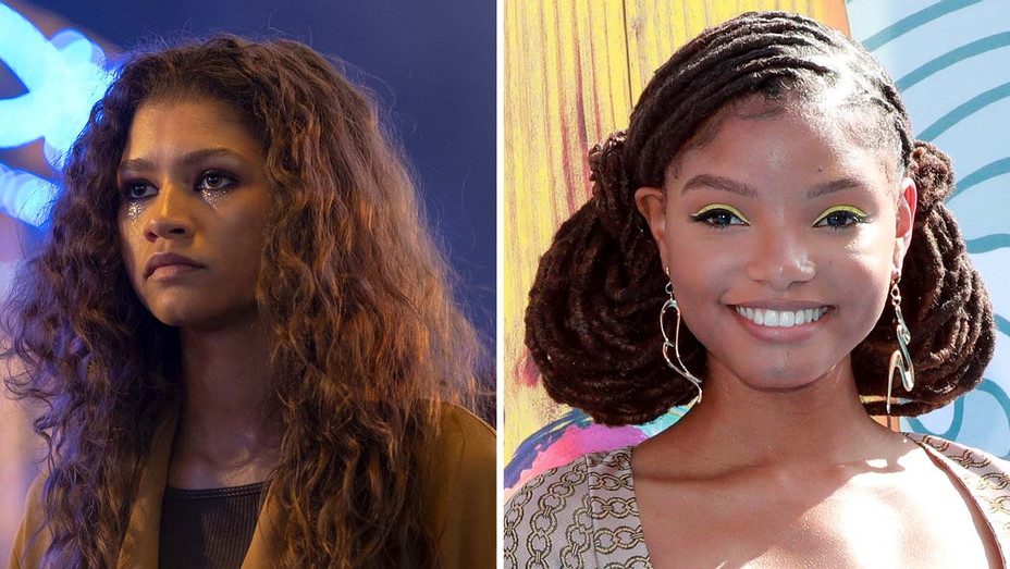 Zendaya in Euphoria- Halle Bailey - Publicity Still - Getty - Split - H 2019