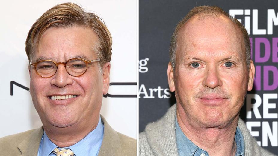 Aaron Sorkin and Michael Keaton - Getty - Split - H 2019