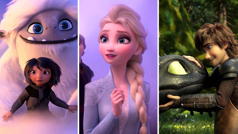 Abominable, Frozen 2, How to Train your Dragon 3- Publicity -Photofest - Split - H 2019