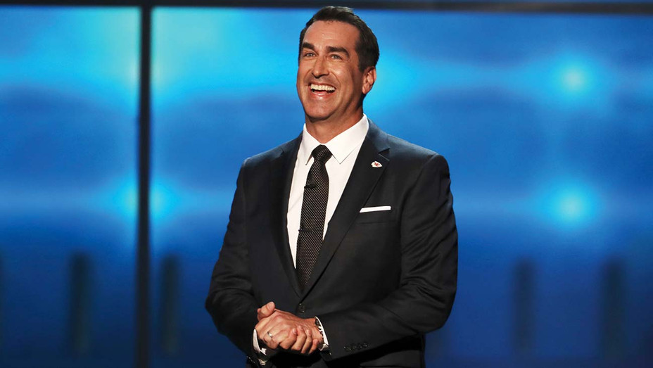 ONE TIME USE ONLY -Rob Riggle speaks onstage at the 7th Annual NFL Honors - AP-H 2019