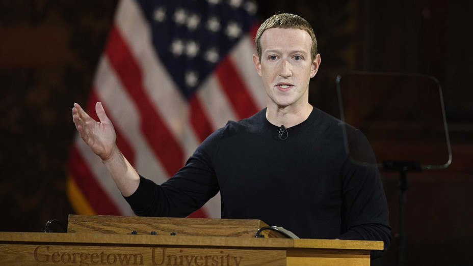 ONE TIME USE - Facebook CEO Mark Zuckerberg speaks at Georgetown University, Thursday, Oct. 17, 2019, in Washington. - AP Photo-H 2019