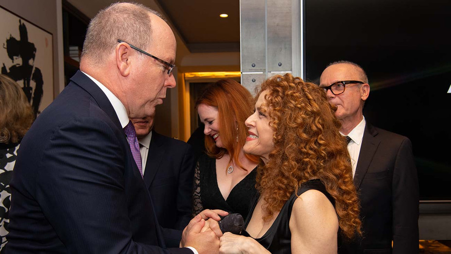 HSH Prince Albert II and Bernadette Peters please - Princely Palace of Monaco Publicity-H 2019