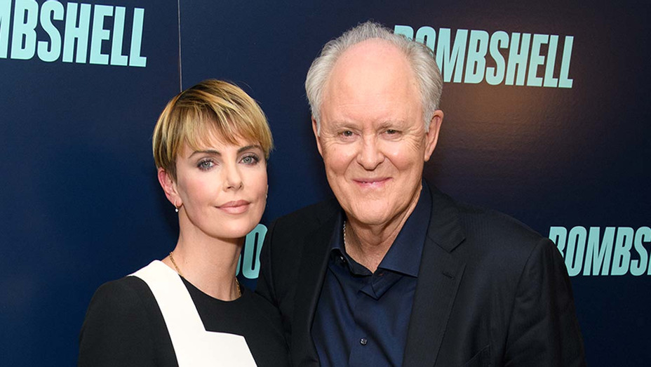 "Charlize Theron and John Lithgow attend the ""Bombshell"" New York Screening - Getty - H 2019"