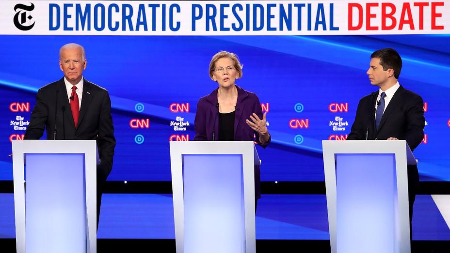 Democratic Debate 15 Oct - Getty - H 2019