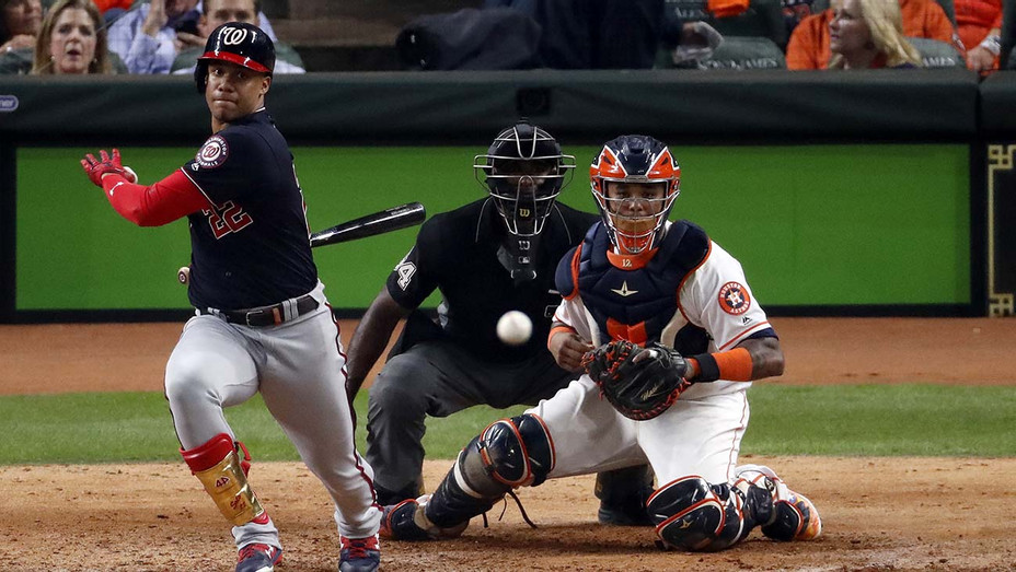 Washington Nationals against the Houston Astros during the eighth inning in Game One of the 2019 World Series - Getty-H 2019