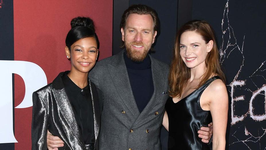 Kyliegh Curran, Ewan McGregor and Rebecca Ferguson attend the premiere Doctor Sleep- Getty-H 2019