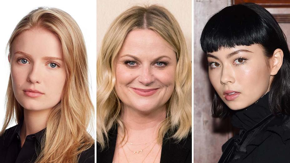 Hadley Robinson, Amy Poehler, Lauren Tsui_Split - Getty - H 2019