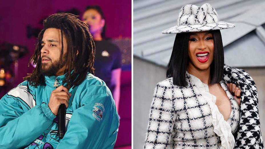 J Cole_Cardi B_Split - Getty - H 2019