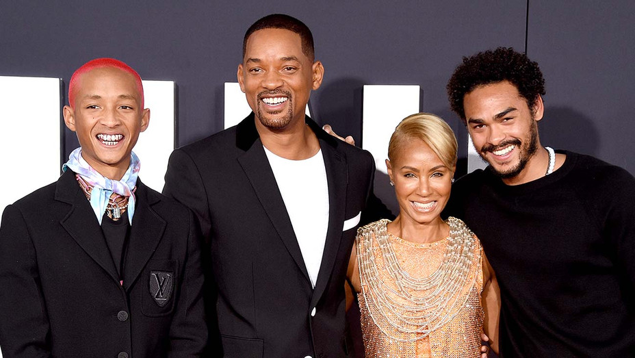 Jaden Smith, Will Smith, Jada Pinkett Smith, and Trey Smith - Getty - H 2019