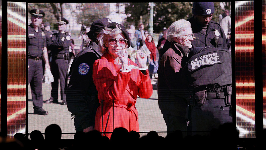 Jane Fonda Arrest - BAFTA video - H - 2019