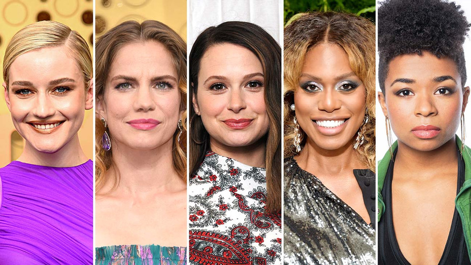 Julia Garner, Anna Chlumsky, Katie Lowes, Laverne Cox and Alexis Floyd_Split - Getty - H 2019