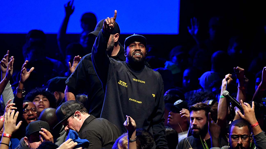 """Kanye West performs onstage during his """"Jesus Is King"""" album - Getty - H 2019"""