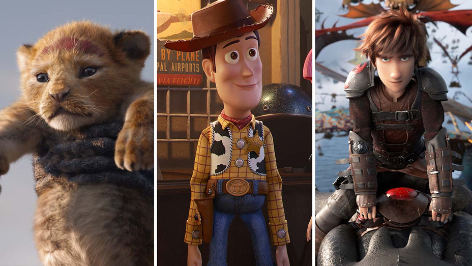 Lion King_Toy Story_How to Train Your Dragon_Split - Publicity - H 2019
