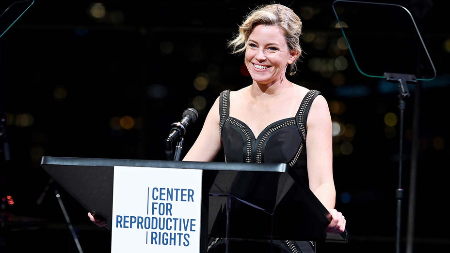 Elizabeth Banks speaks onstage at the Center For Reproductive Rights 2019 Gala - Getty-H 2019