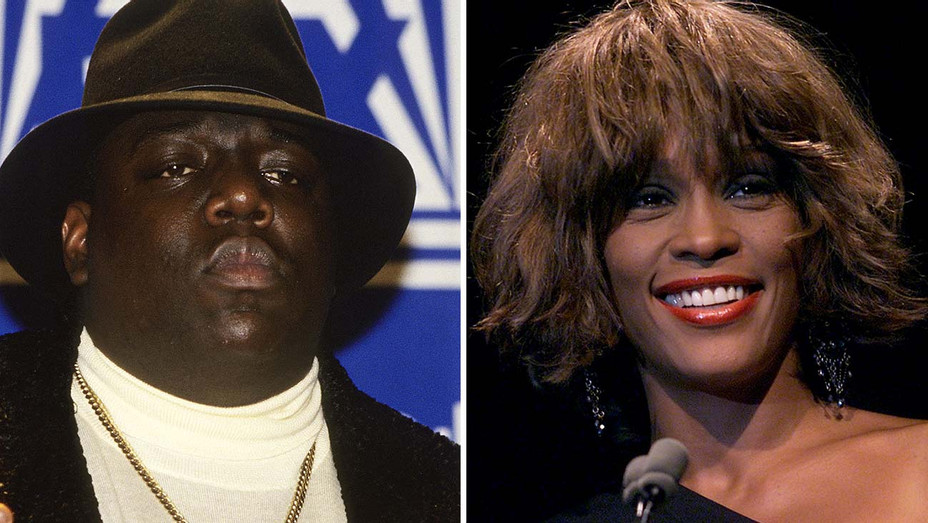 Notorious BIG and Whitney Houston Split-Getty-H 2019