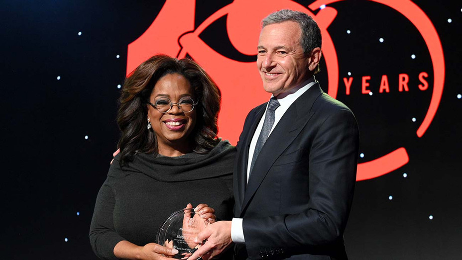 Oprah and Bob Iger from Save the Children -Getty - H 2019