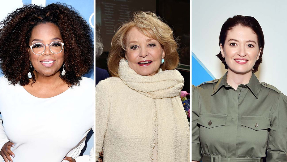 Oprah Winfrey, Barbara Walters and Marielle Heller_Split - Getty - H 2019