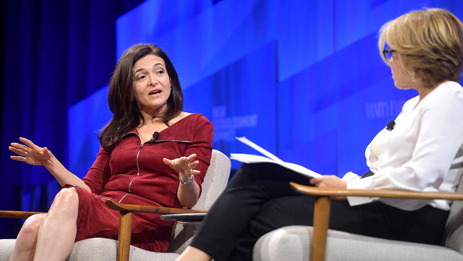Sheryl Sandberg, COO of Facebook and Katie Couric - Getty - H 2019