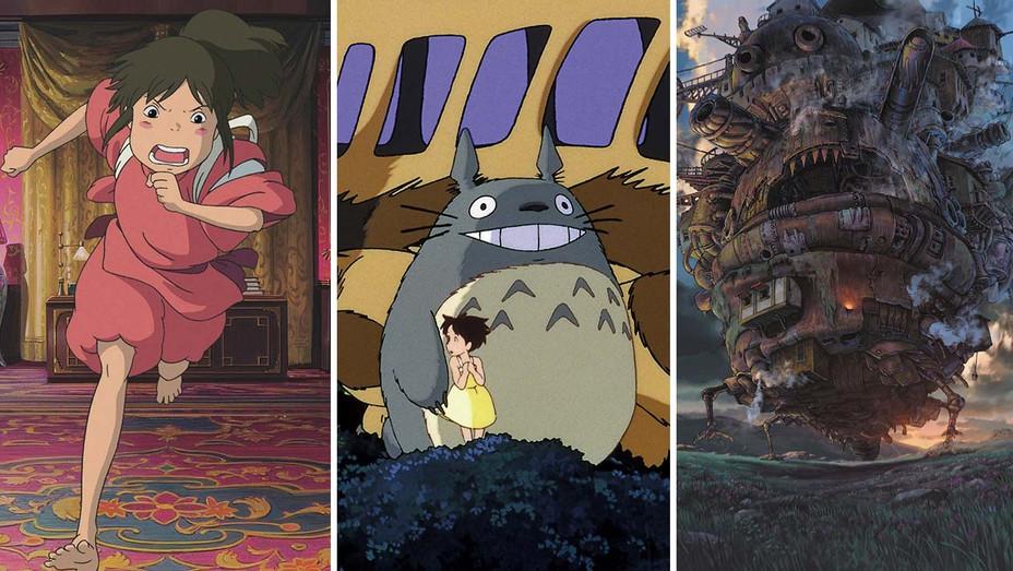 Spirited Away_My Neighbor Totoro_Howl's Moving Castle_split - Photofest - H 2019
