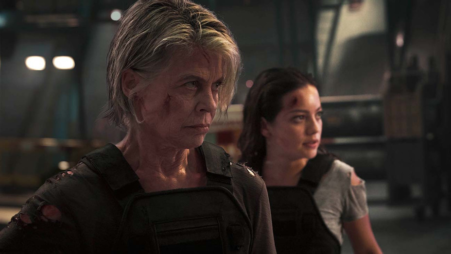 TERMINATOR DARK FATE - Still 1 - Linda Hamilton, left, and Natalia Reyes - Skydance Productions and Paramount Pictures Publicity-H 2019