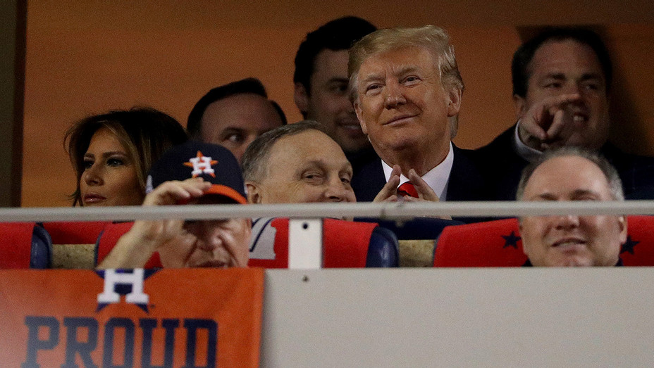 Trump at World Series Game 5 - H Getty 2019