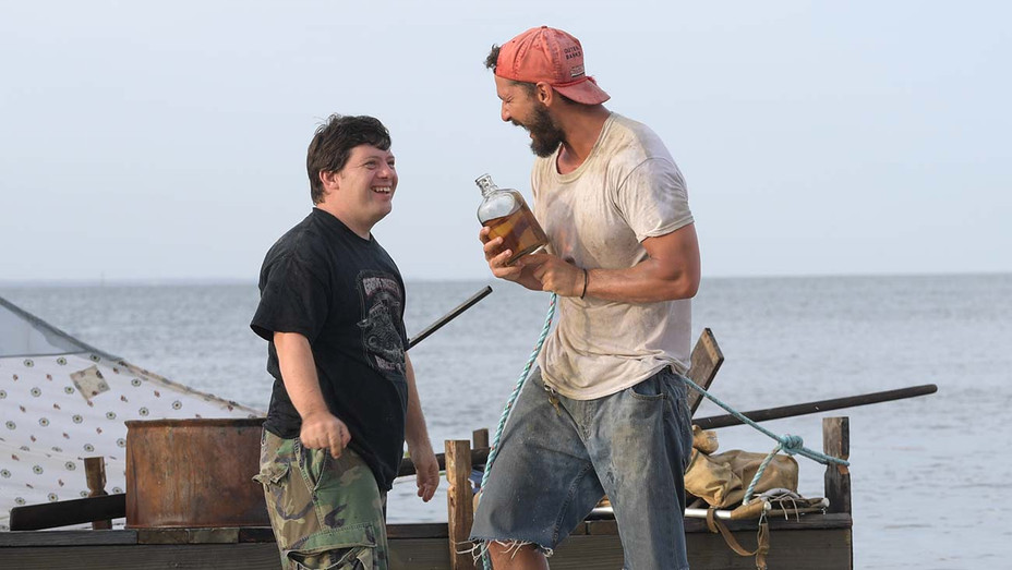 Peanut Butter Falcon Still 1 - Zack-Gottsagen and Shia LaBeouf -Roadside Attractions and Armory Films Publicity- H 2019