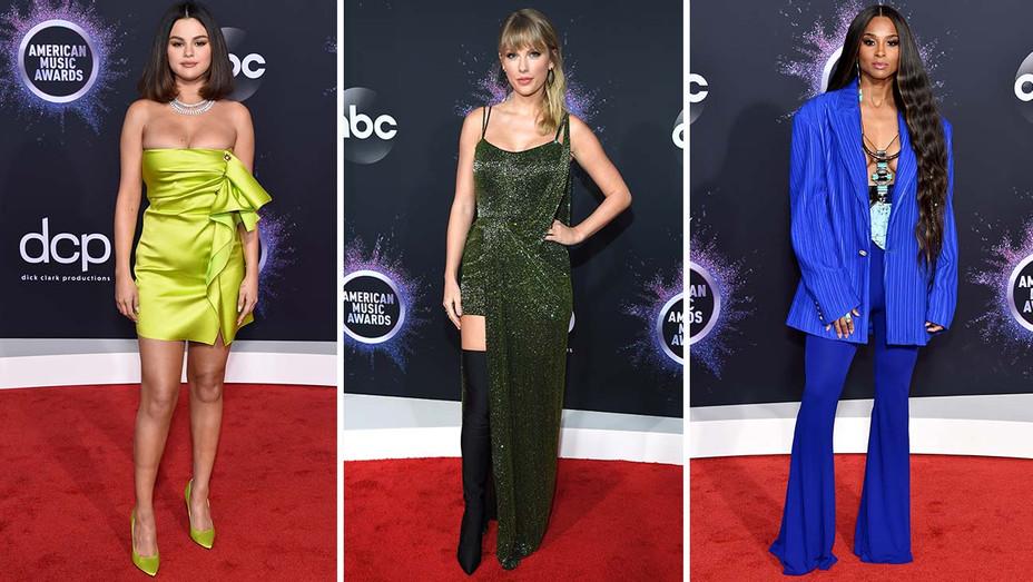 American Music Awards Gomez Swift Ciara - Getty - H 2019