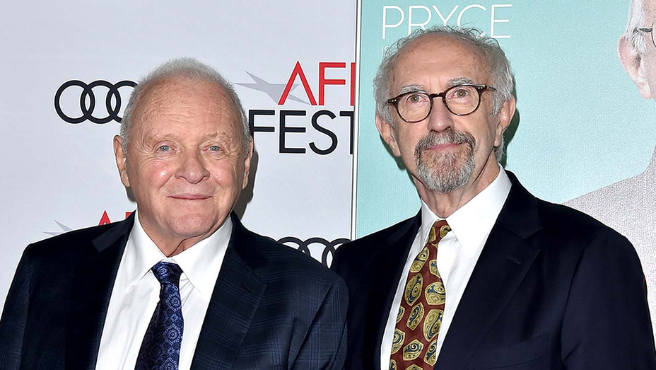 Anthony Hopkins and Jonathan Pryce - Getty - H 2019